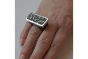 Strieborný prsteň Wood