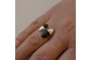 Strieborný prsteň deň a noc