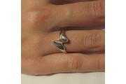 Strieborný prsteň Svokrin Jazyk