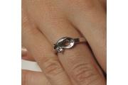 Strieborný prsteň Evžen
