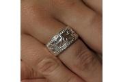 Strieborný prsteň Dušo