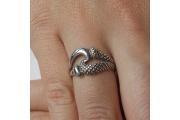 Strieborný prsteň Robin