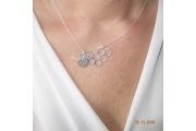 Strieborný náhrdelník Včela