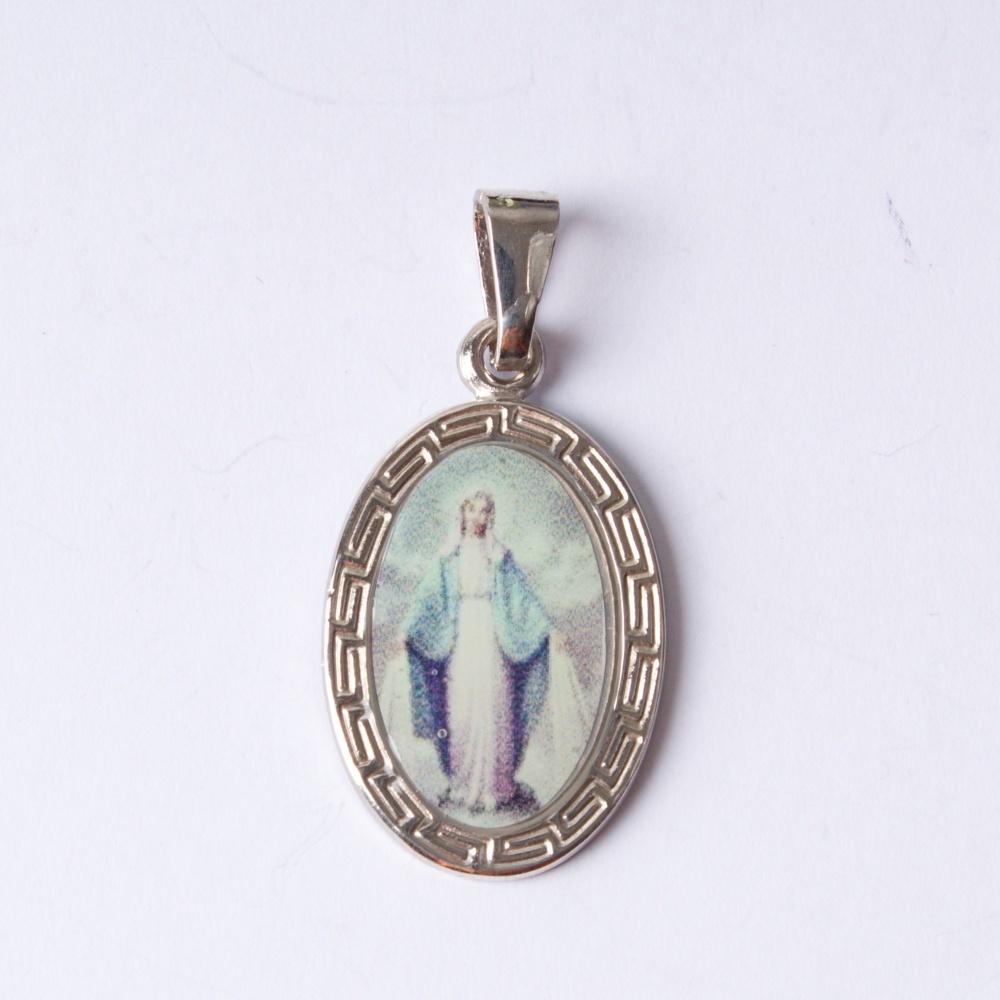 Strieborný prívesok Panna Mária