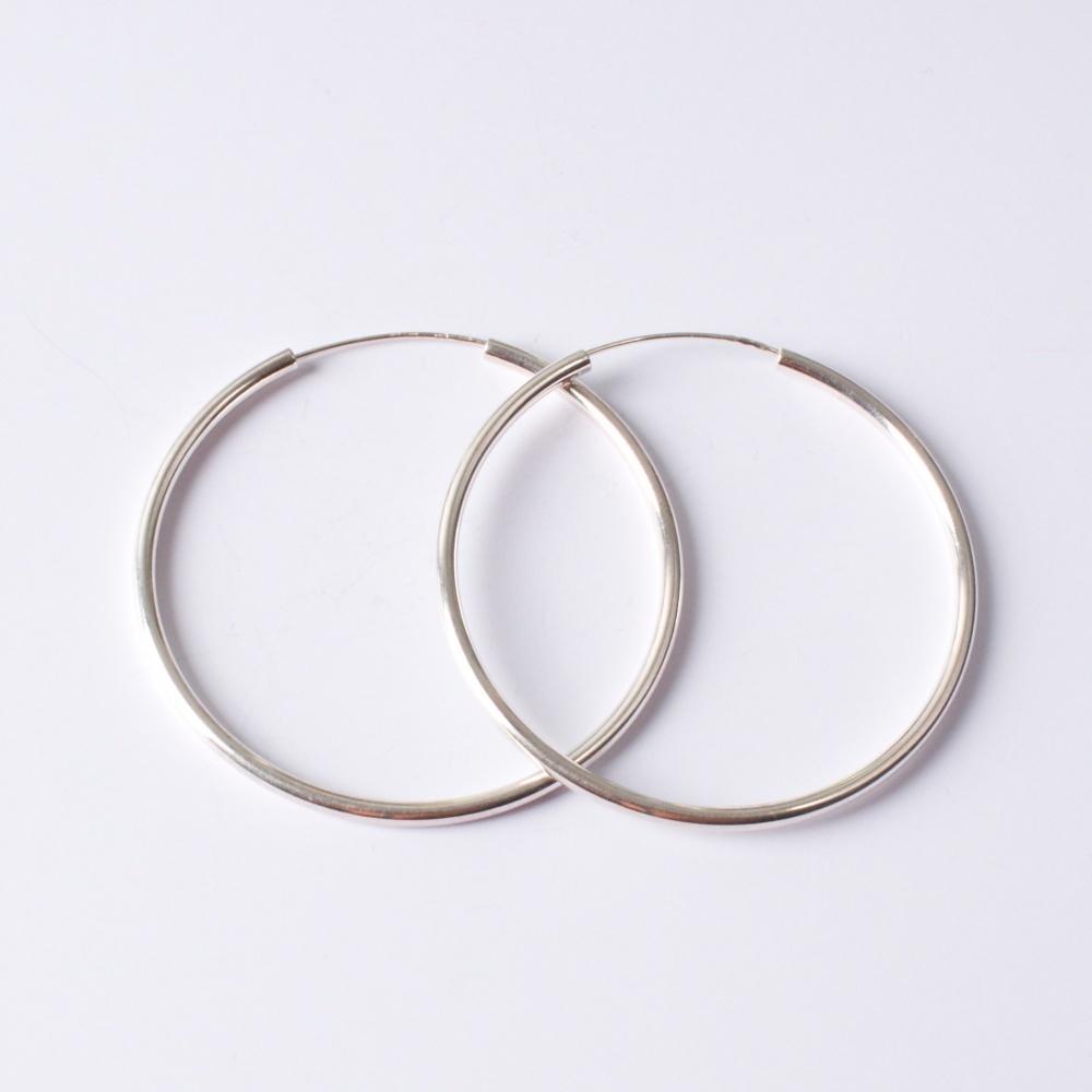 Strieborné kruhy 60