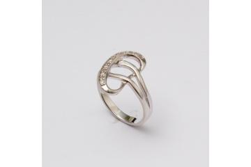 Strieborný prsteň Sféra