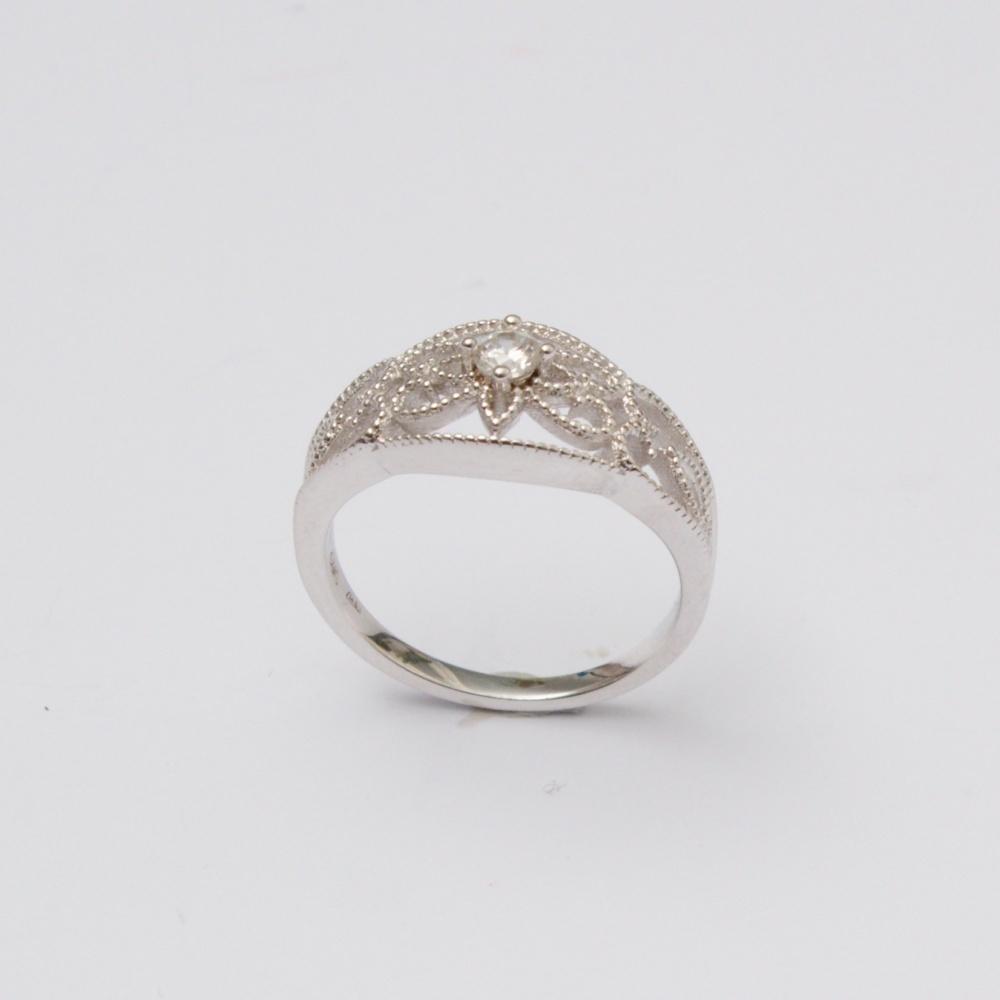 Strieborný prsteň cifrovaný