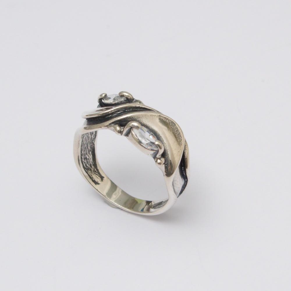 Strieborný prsteň  grecký