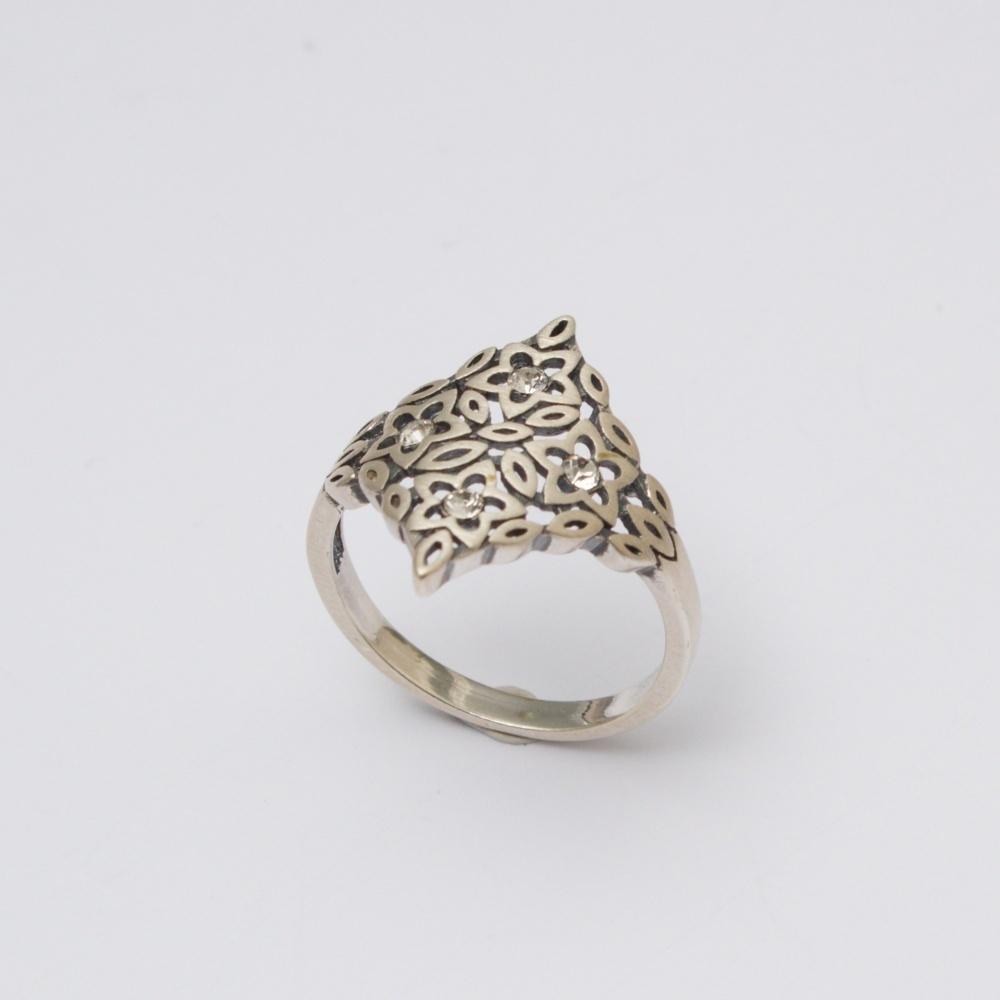 Strieborný prsteň jarna lúka