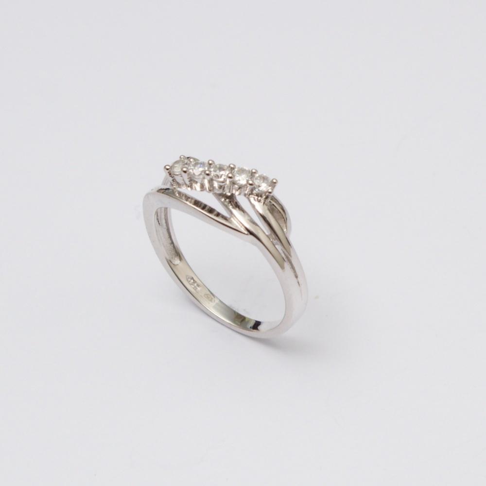 Strieborný prsteň Snake