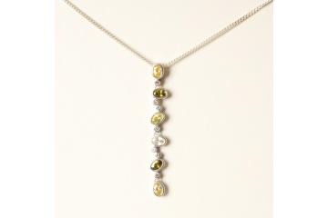 Strieborný náhrdelník Etel 55 cm
