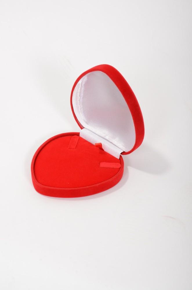 Zamatová krabička srdce